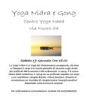 Yoga Nidra e Gong - Sabato 19 Gennaio - Cagliari