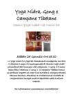Yoga Nidra Gong e Campane Tibetane - Sabato 25 Gennaio 2020 - Centro Yoga Naad Cagliari