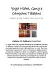 Yoga Nidra Gong e Campane Tibetane - Sabato 22 Febbraio 2020